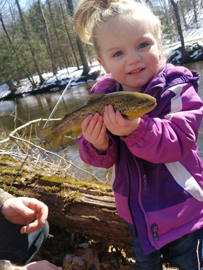 Youth trout fishing